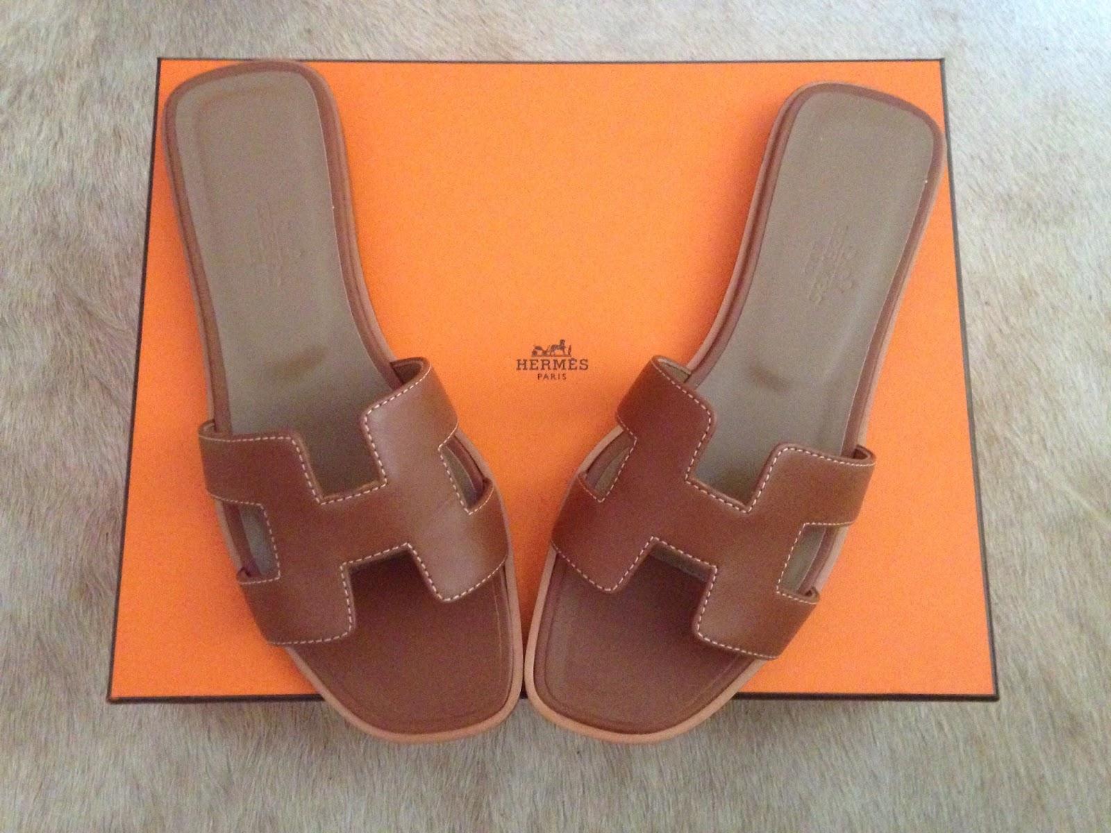 hermes oran, hermes sandals, orange box, luxury, designer