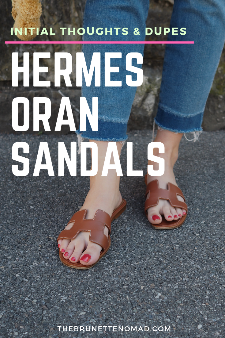 67c0643d0268 Dallas fashion blogger shares initial thoughts and dupes for the Hermes  Oran sandals