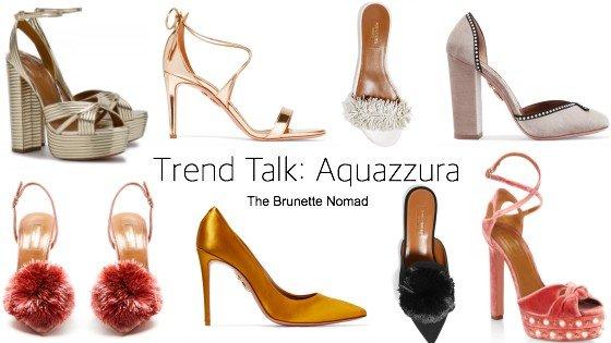 Cristina from The Brunette Nomad, Dallas fashion blogger, talks about the trendy shoe brand Aquazzura