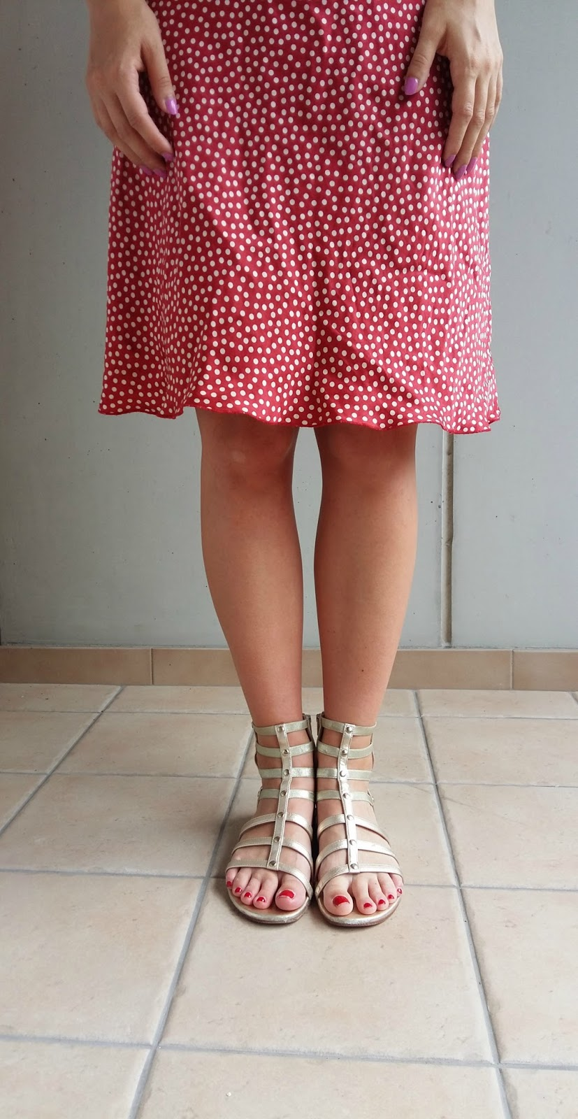 polka dots, red dress, silk dress, swiss blogger, switzerland, summer fashion