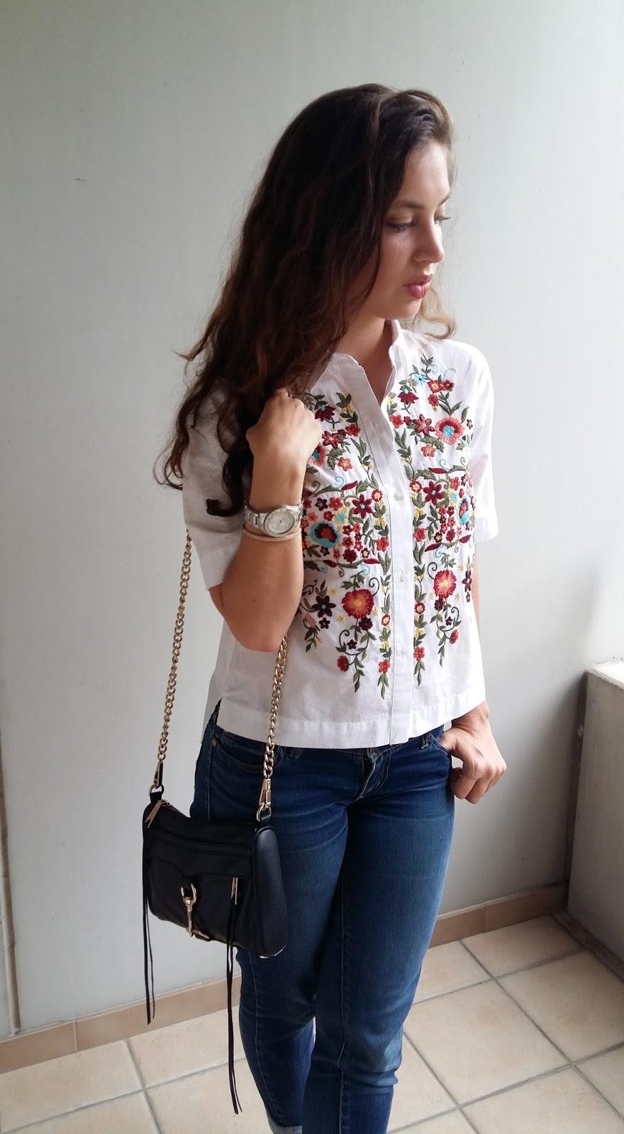 zara, summer fashion, stuart weitzman, embroidered top, 70's inspired