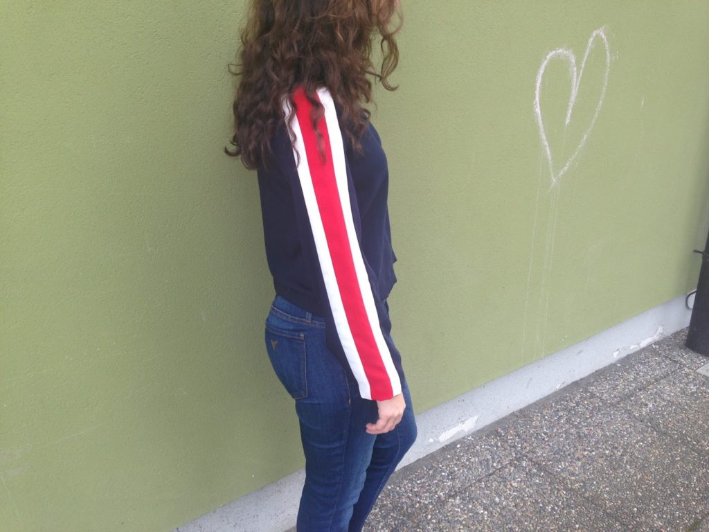 The Brunette Nomad- Curly Hair and Sporty Stripes 4