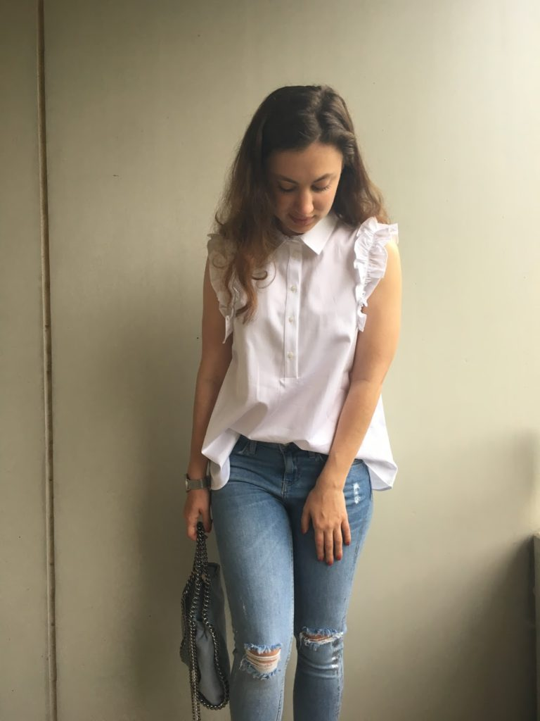 The Brunette Nomad- Modern Take on the Ruffle Blouse 6