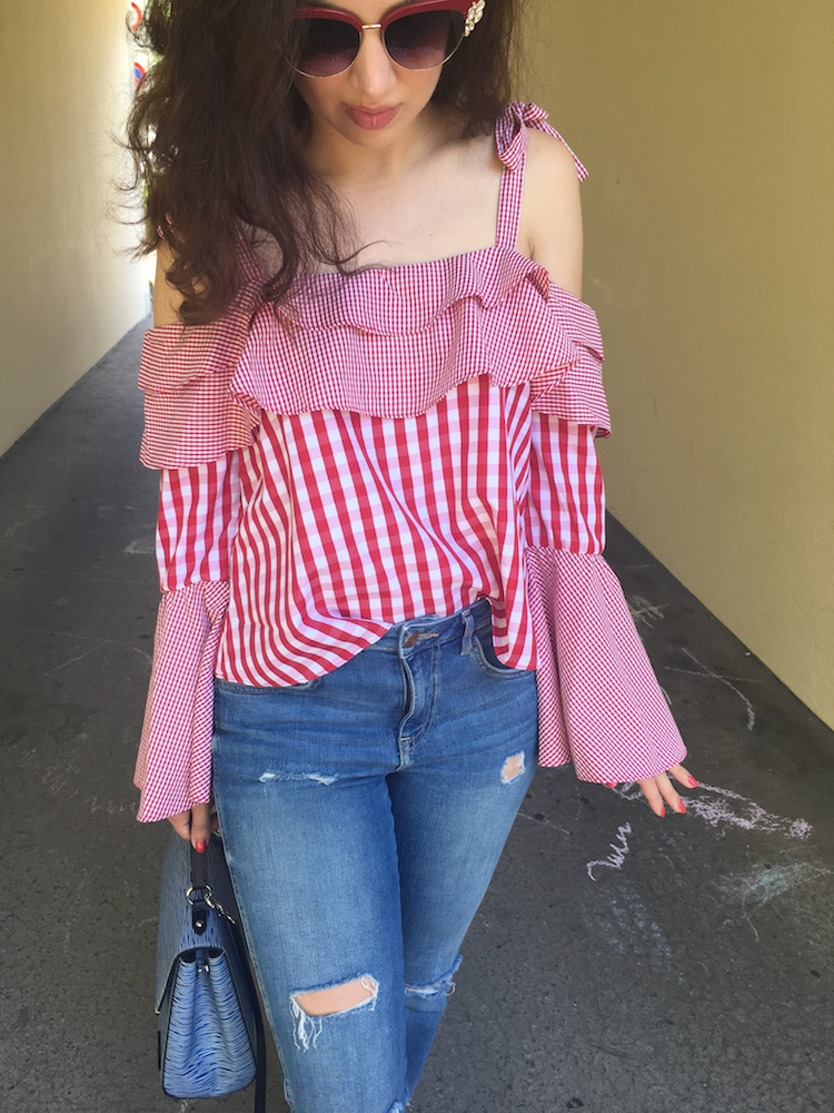 blogger, gingham, cold shoulder, cluny bb, life lessons, 25 years, hermes oran, switzerland