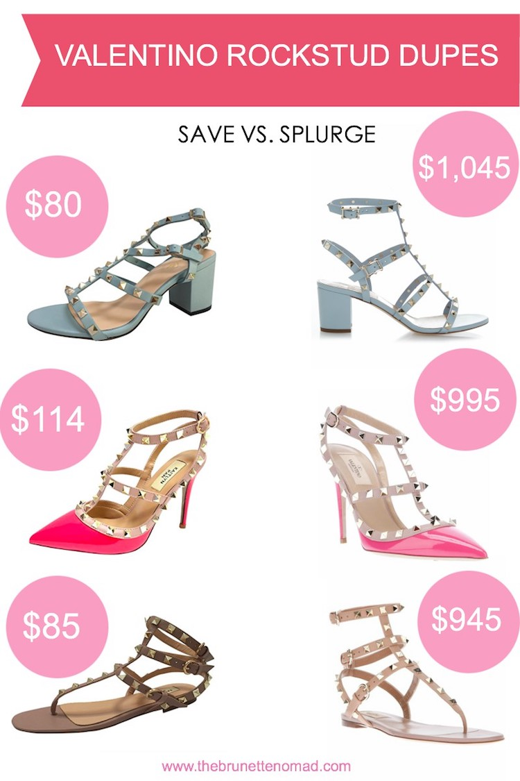 Designer Dupes for Valentino Rockstuds