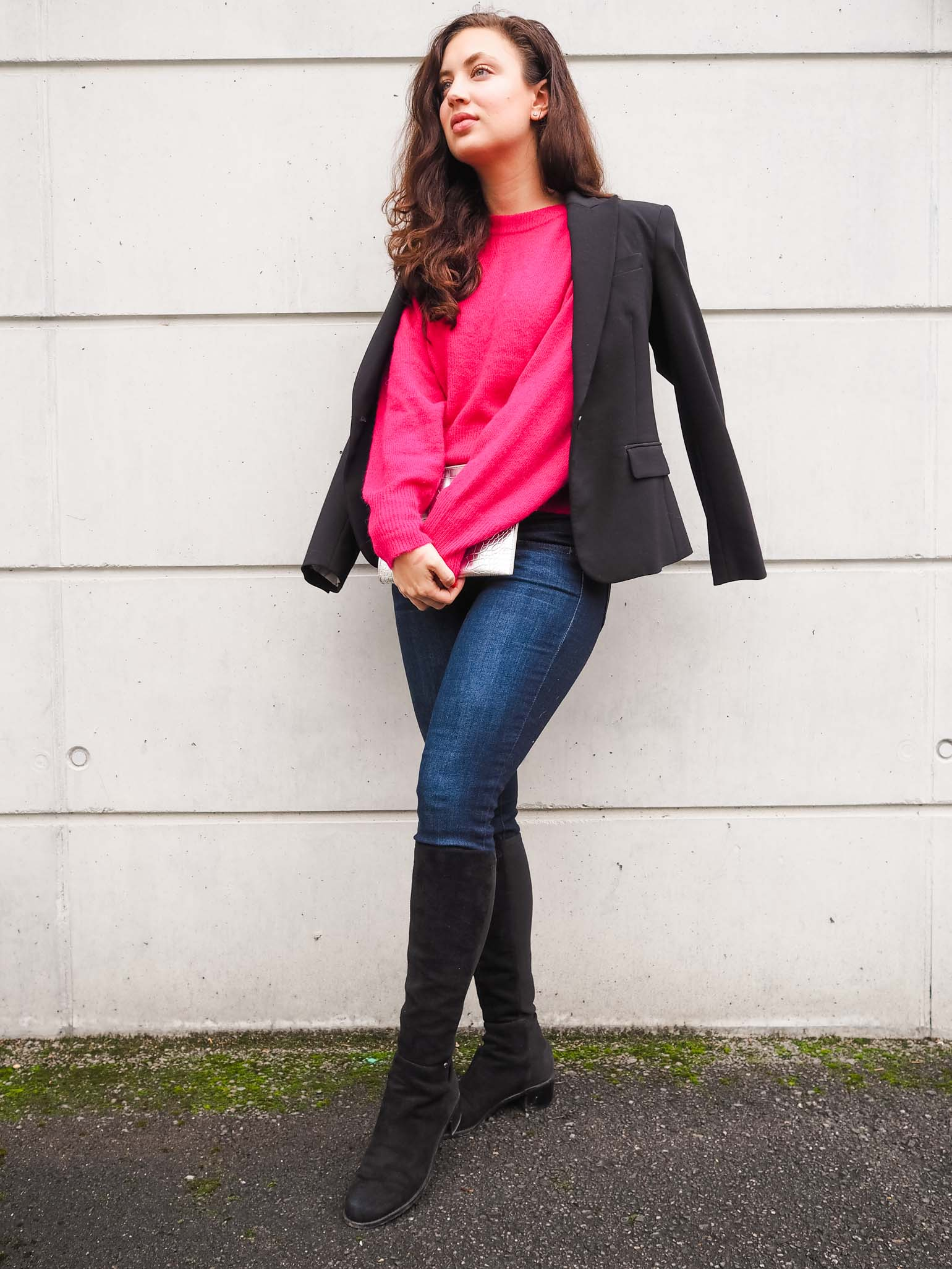 hot pink sweater - New Look