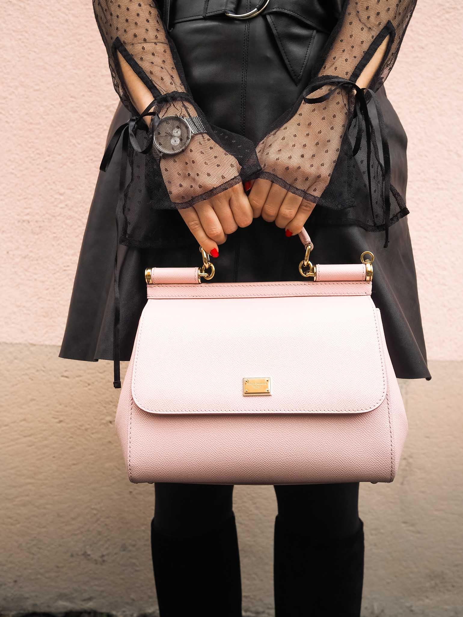 All Black Look, Holiday Look, Dolce & Gabbana Handbag - The Brunette Nomad