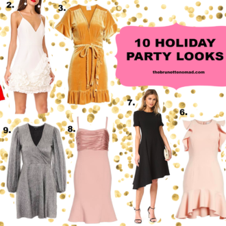 Cristina from The Brunette Nomad, Dallas fashion blogger living in Switzerland, shares 10 holiday party dresses for any occasion