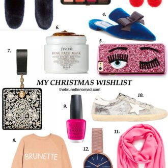 Holiday Gift Guide: My 2017 Christmas Wishlist by The Brunette Nomad, Dallas fashion blogger