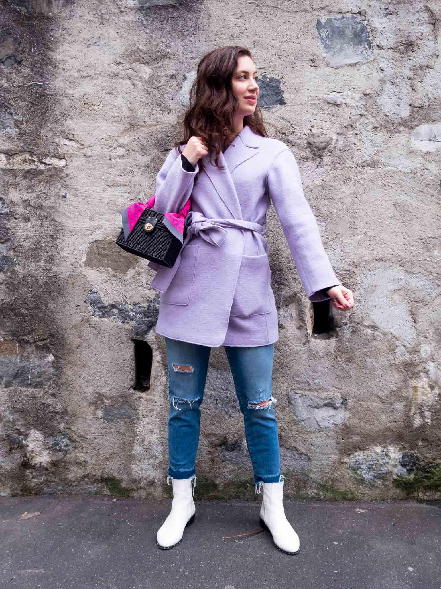 Wear a Woven in the Winter | Dallas fashion blogger