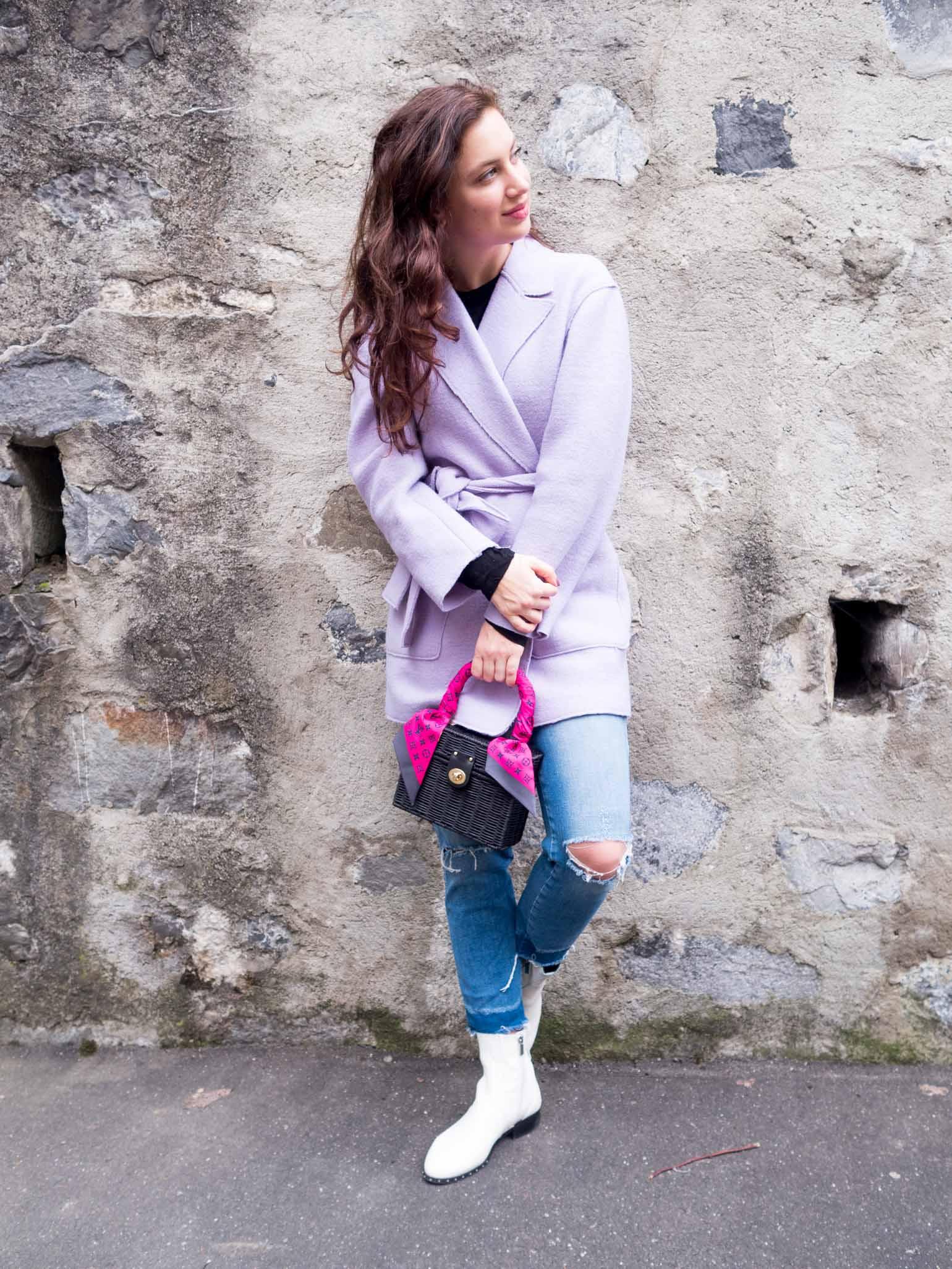 Wear a Woven in the Winter   Dallas fashion blogger