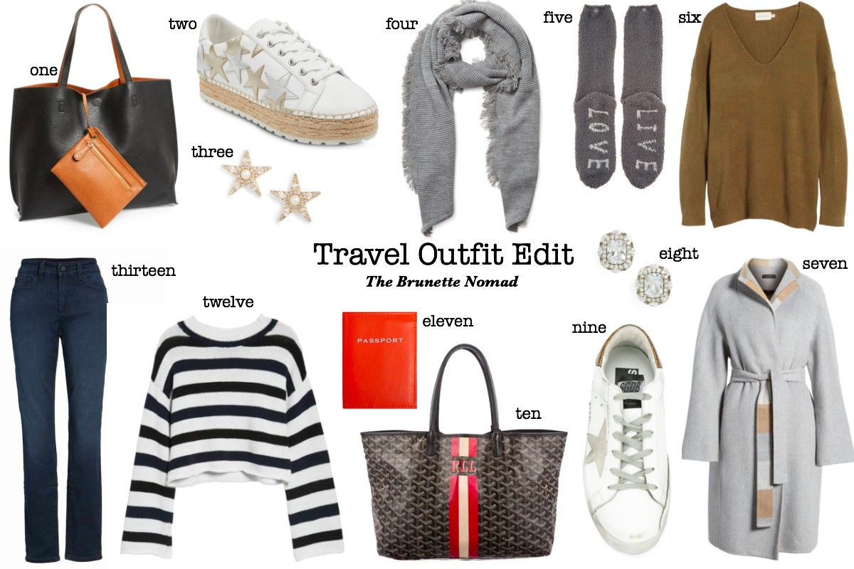Cristina from The Brunette Nomad, Dallas and Swiss based fashion blogger, shares her travel outfit edit for all of your trips in the new year